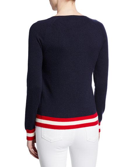 Chinti And Parker Ski Ya Later Striped Wool-Cashmere Sweater