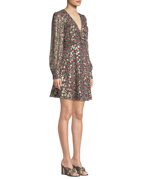 be3d91a20762 kate spade new york floral park v-neck dress | Neiman Marcus