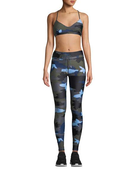 The Upside Abstract Camo-Print Drawstring Yoga Pants