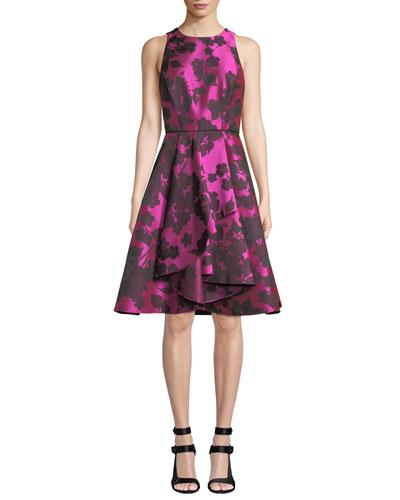 Lynbrook Floral Fit-&-Flare Dress