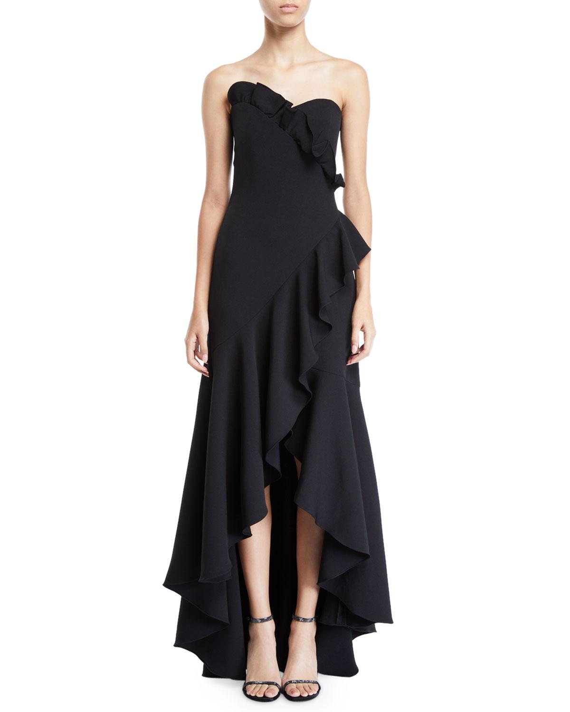 Shoshanna Maye Strapless Ruffle Dress | Neiman Marcus
