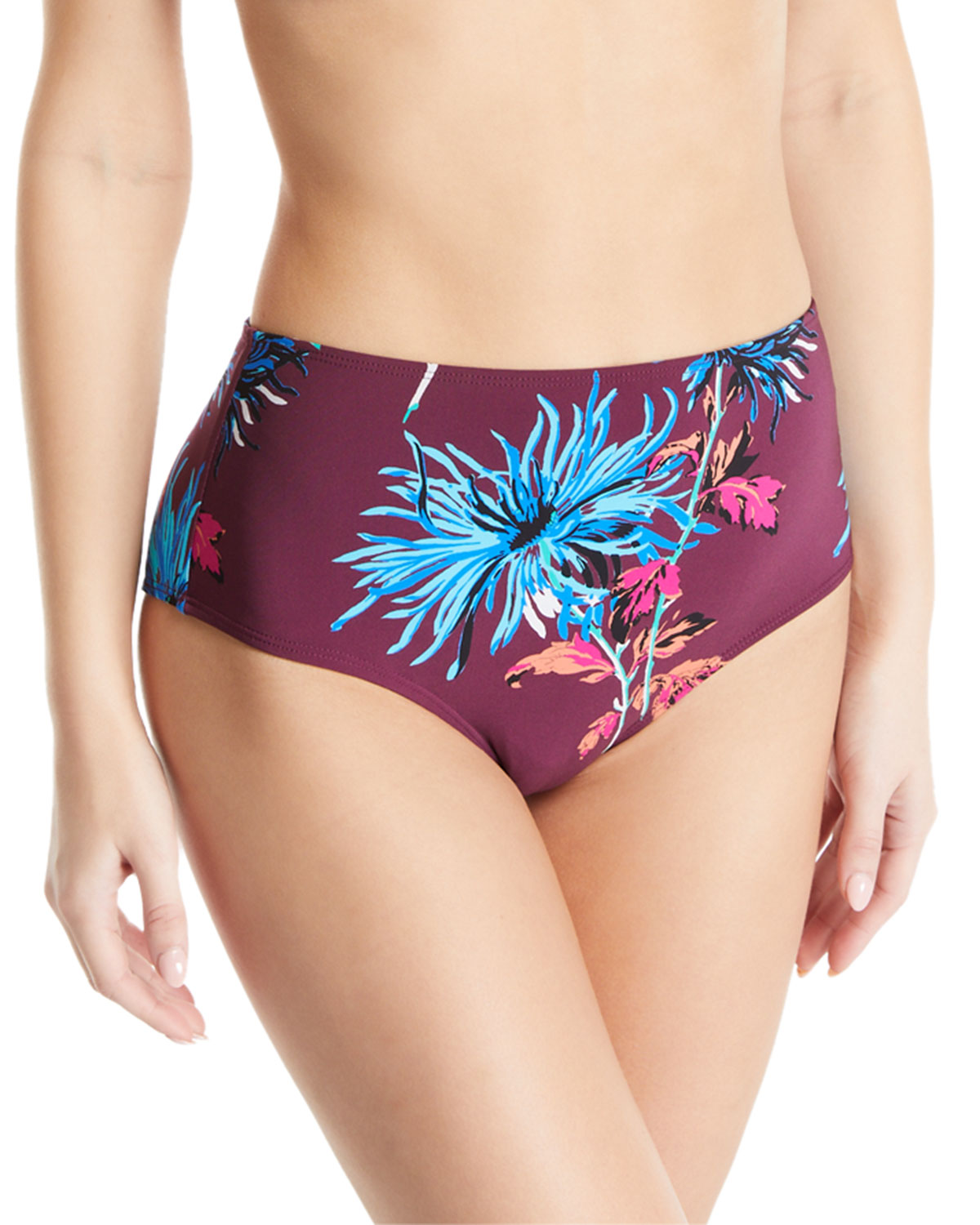 315e83ad762e8 Diane von Furstenberg New Cheeky High-Waisted Floral Swim Bottoms ...