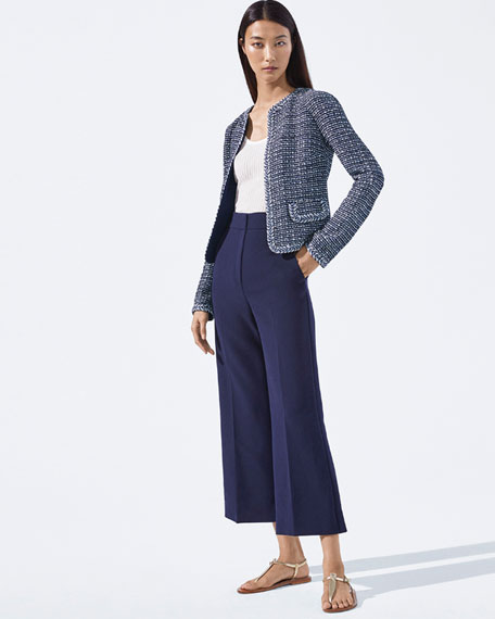 St. John Collection Camille Braided-Trim Tweed Jacket