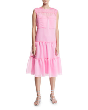 c14635042f See by Chloe Tiered Midi Dress with Utility Pockets