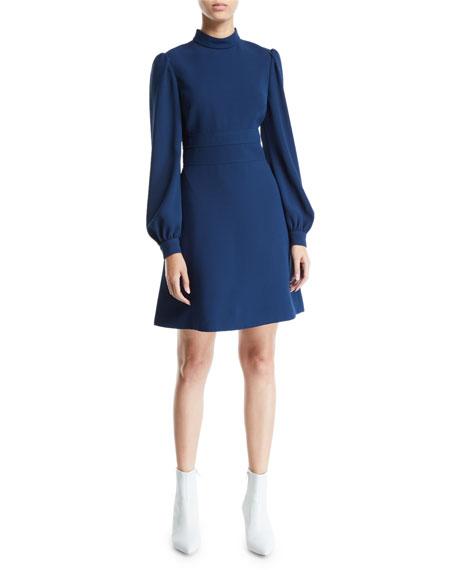 Jill Jill Stuart Pearl-Cuff Fit-&-Flare Cocktail Dress