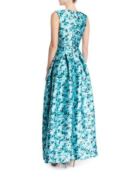 Sachin & Babi Brooke Floral Gown w/ Pockets