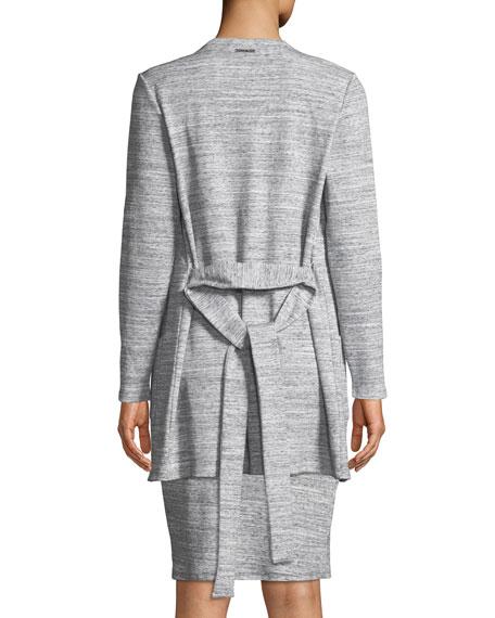 MICHAEL Michael Kors Ribbed Long-Sleeve Tie-Waist Cardigan
