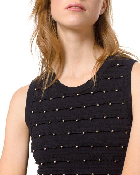 MICHAEL Michael Kors Scalloped Embellished Crewneck Tank Dress