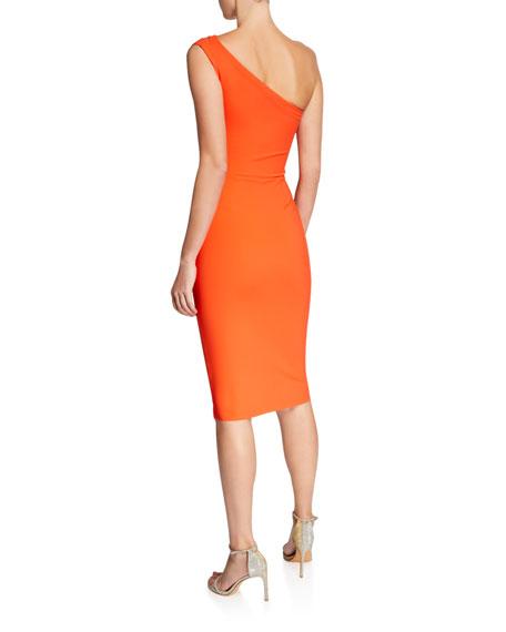 7e3f9c25 Chiara Boni La Petite Robe Anisette One-Shoulder Body-Con Dress with ...