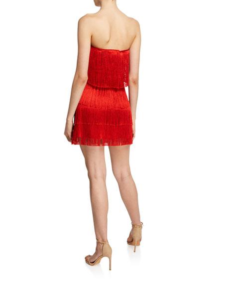 Rosmund Strapless Tiered Fringe Dress