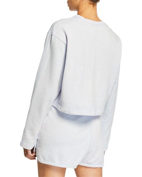 Nike NSW Long-Sleeve Cropped Logo Sweatshirt, Blue