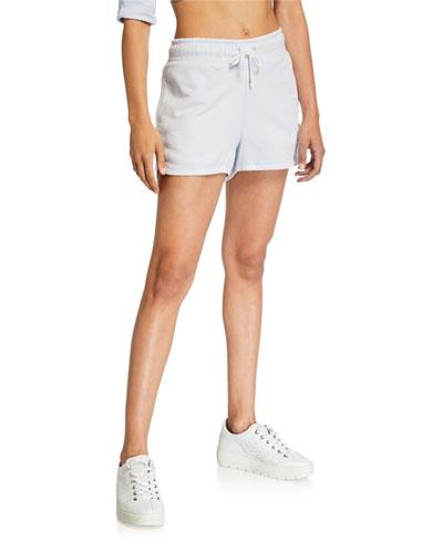 NSW Drawstring Cotton Shorts  Blue