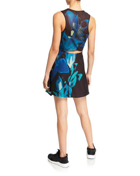 Nike x Maria Sharapova Printed NikeCourt Sleeveless Cutout Tennis Dress