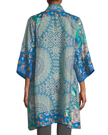7b9ab5a310e Image 2 of 3  Johnny Was Plus Size Coi Mixed-Print Silk Kimono Jacket