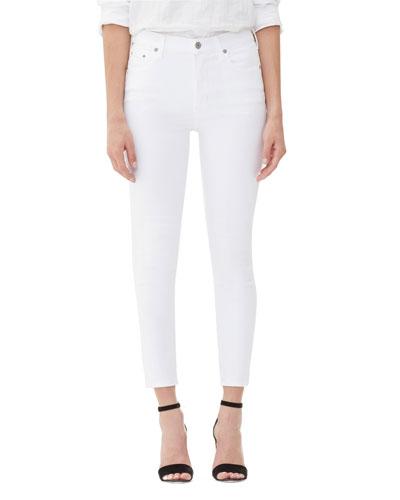 Rocket Crop High-Rise Skinny Jeans  White Sculpt