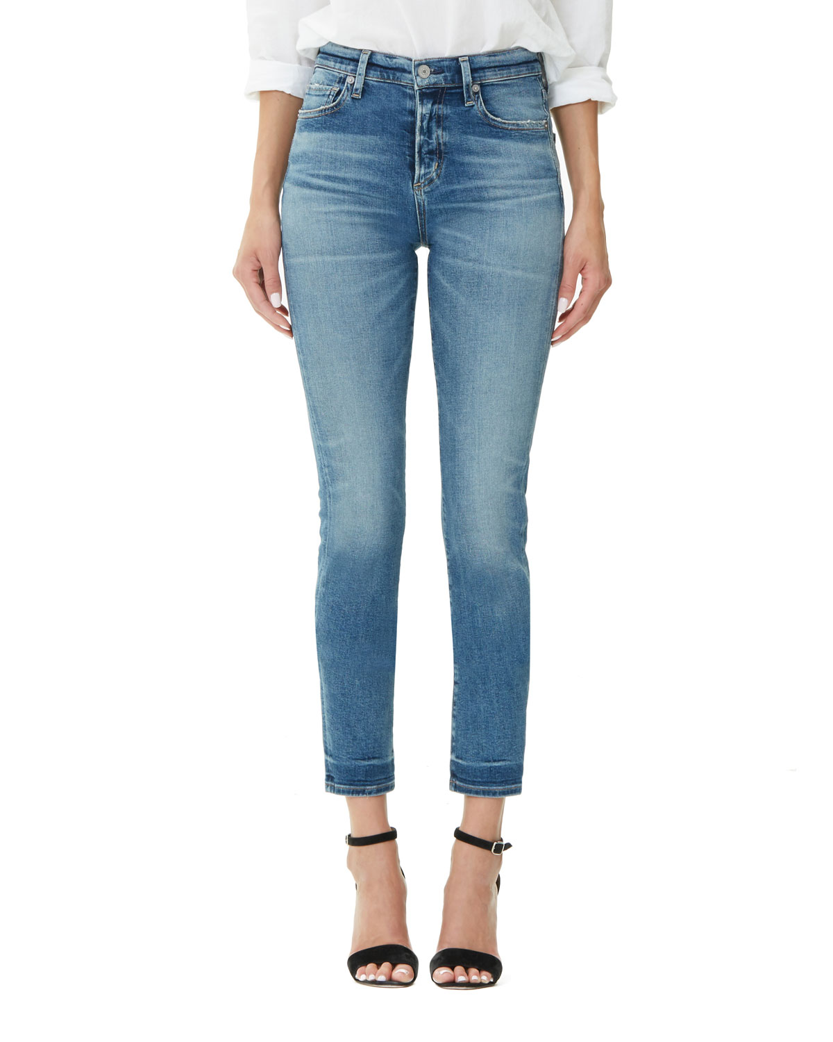 9d58c6b2dd54 Citizens of Humanity Harlow High-Rise Ankle Straight-Leg Jeans ...