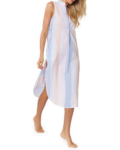 Avi Striped Sleeveless Coverup Dress