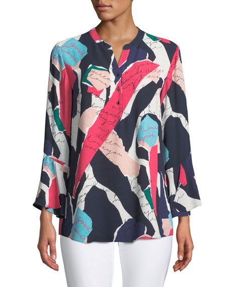NIC+ZOE Plus Size Love Letter Printed Tunic