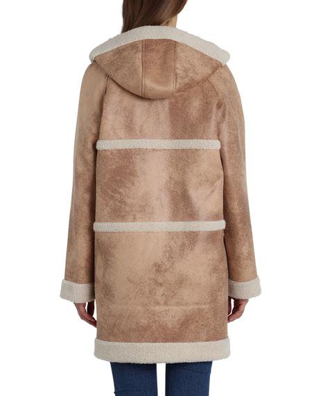 Avec Les Filles Reversible Sherpa Hooded Coat