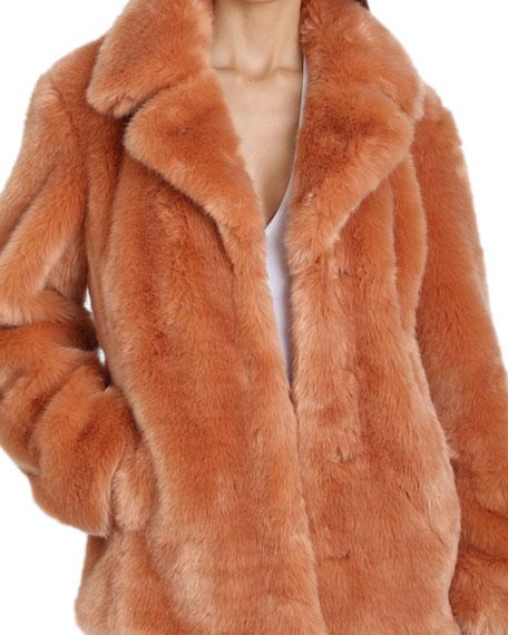 Avec Les Filles Faux-Fur Oversized Coat
