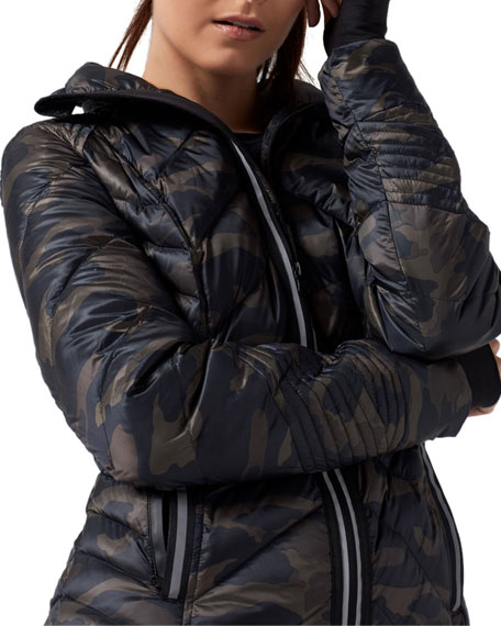Blanc Noir Reflective Camo-Print Puffer Jacket