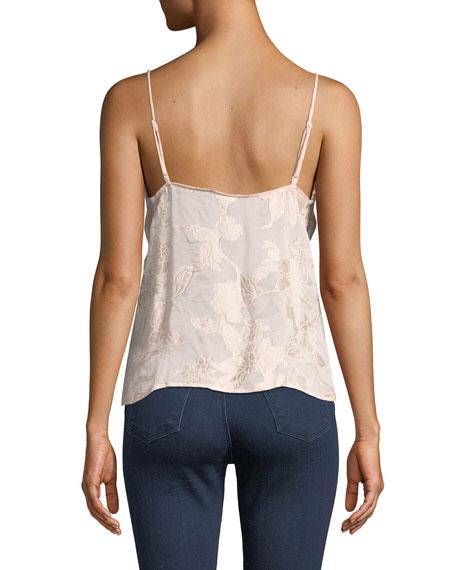 J Brand Lucy Floral Jacquard V-Neck Camisole
