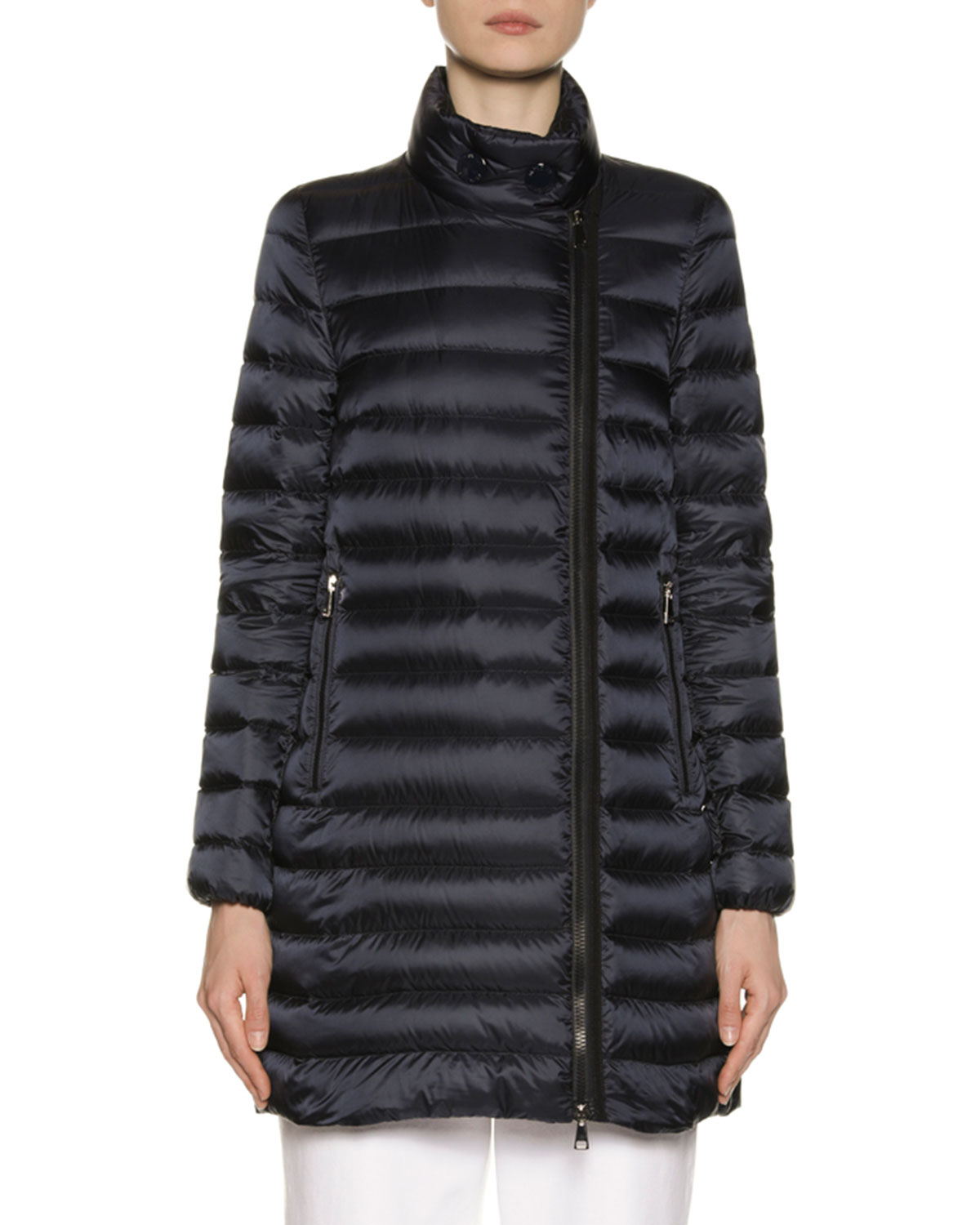 cf65f0551 Asymmetric-Zip Puffer Coat