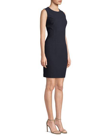 Elie Tahari Tera Sleeveless Jewel-Neck Shift Dress