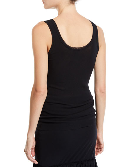 Fuzzi Solid Scoop-Neck Tank