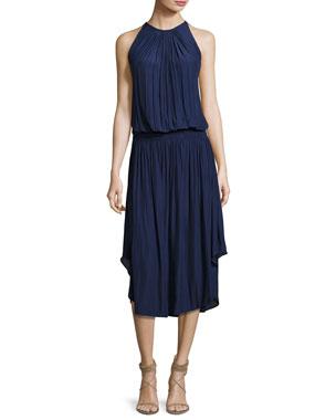 78e1ccb6a4ab0 Ramy Brook Audrey Sleeveless Blouson Midi Dress