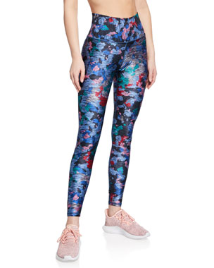 44f0262ed38cd7 Terez High-Rise Printed Performance Leggings