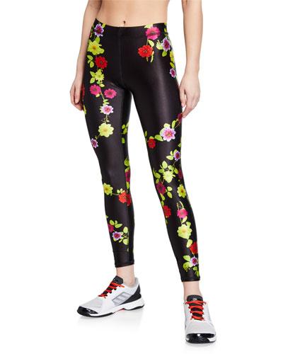 Floral-Print Performance Leggings