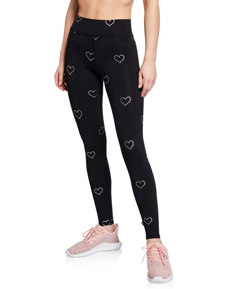 Terez Foil-Printed Tall-Band Performance Leggings