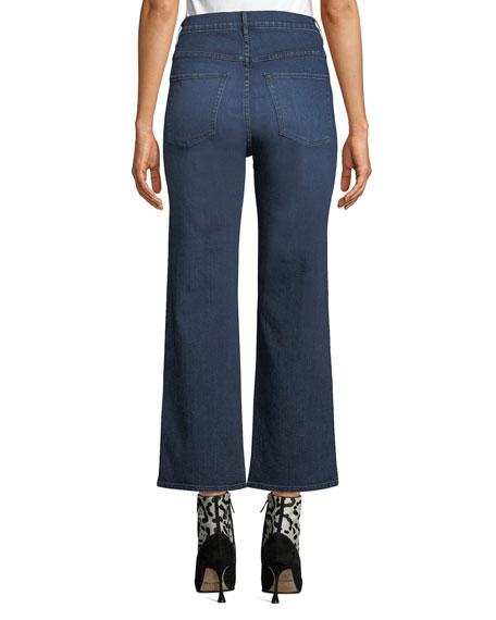 3x1 Joni Wide-Leg High-Rise Cropped Jeans