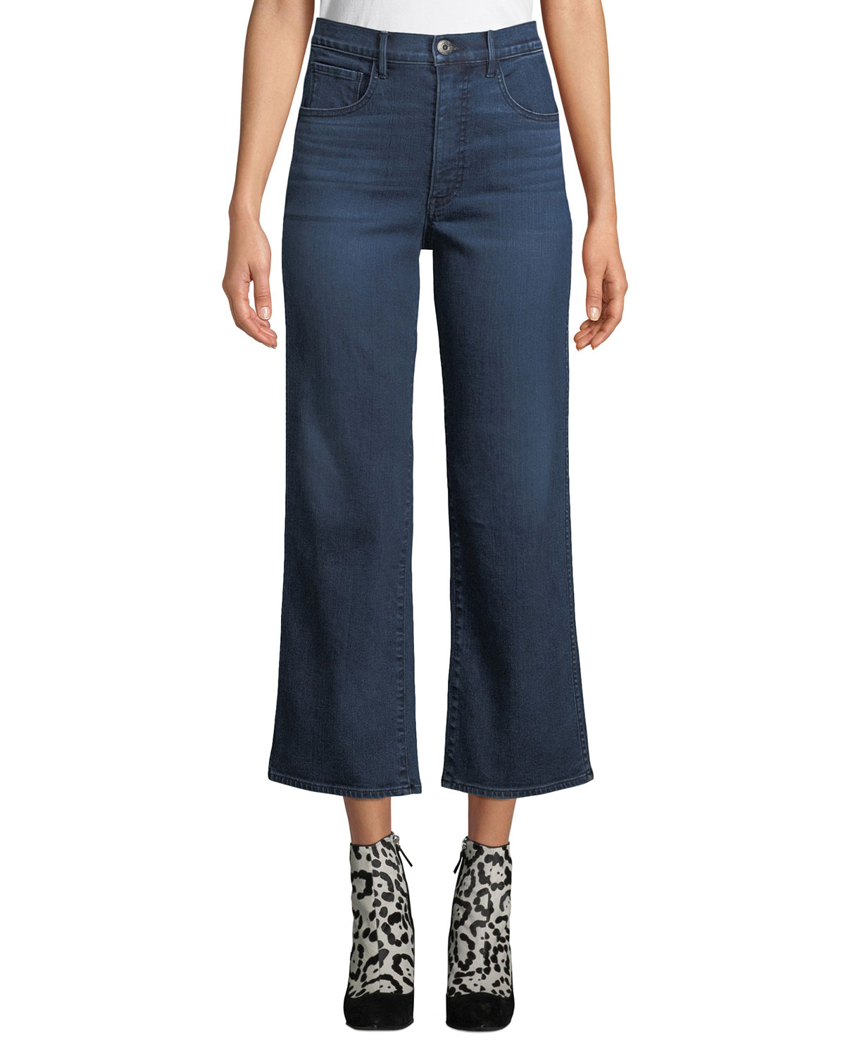 latest trends of 2019 hot sales shop for official Joni Wide-Leg High-Rise Cropped Jeans