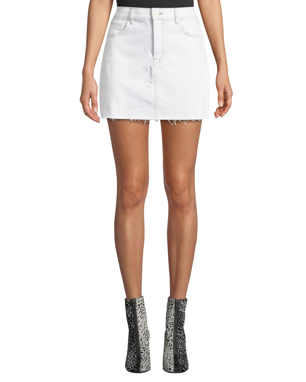 f93ede6e1a High Waist Denim Short Skirt | Saddha