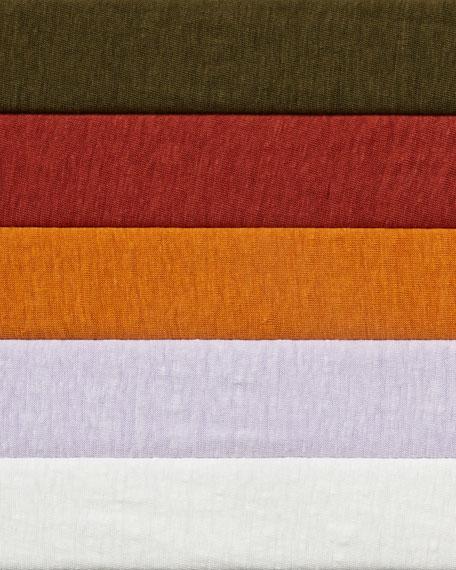 Eileen Fisher Organic Linen Jersey V-Neck Top