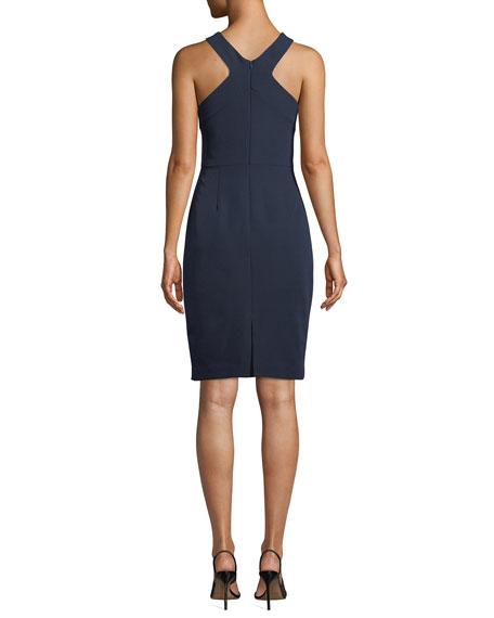 Trina Turk Ace Halter Smoothie-Solid Sheath Dress
