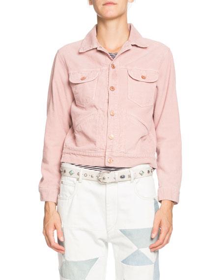 Etoile Isabel Marant Foftya Cropped Corduroy Button-Front Jacket