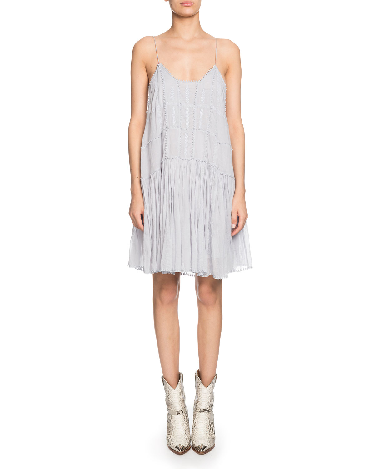 Amelie Embroidered Shift Dress