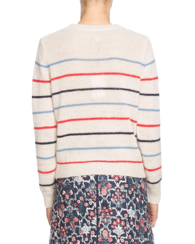 8a048baa52b Etoile Isabel Marant Gian Striped Alpaca-Blend Crewneck Sweater   Neiman  Marcus