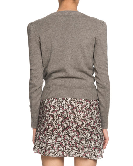 Etoile Isabel Marant Klee Cotton-Wool Pullover Sweater w/ Cutouts