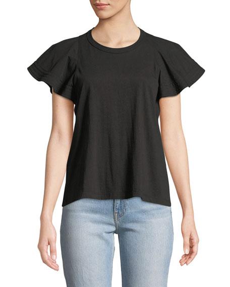 A.L.C. Carrie Flutter-Sleeve T-Shirt