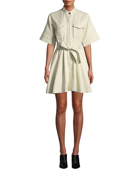 A.L.C. Bryn Short-Sleeve Belted Dress bae55c316