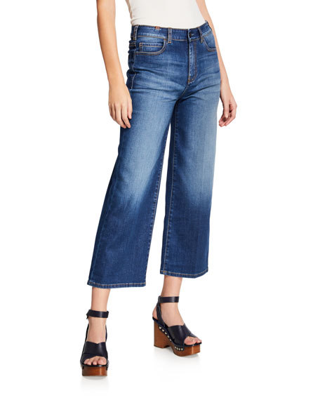 Notify SILENE HIGH-RISE CROPPED WIDE-LEG JEANS