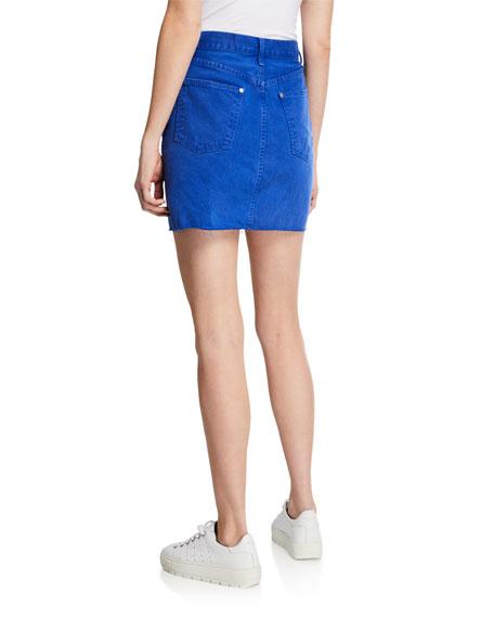 Rag & Bone Moss Denim Mini Skirt with Pockets