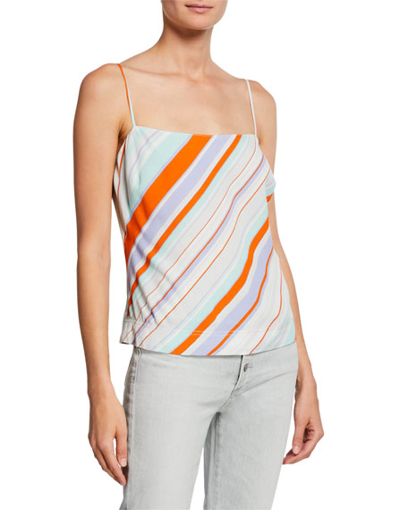 ASTR Satire Striped Sleeveless Top