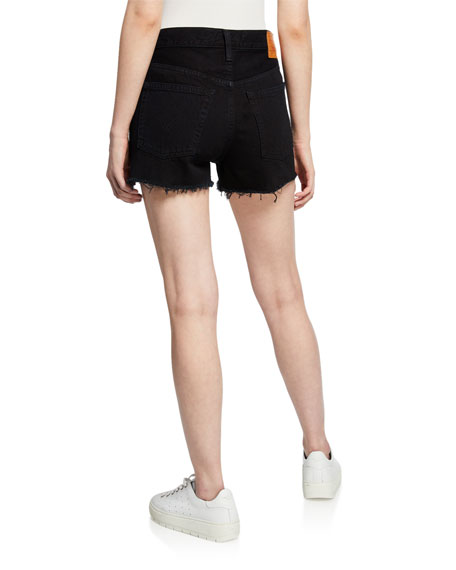 Levi's Premium 501 High-Rise Frayed Denim Shorts