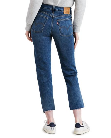 Levi's Premium Wedgie Straight-Leg Jeans with Raw Hem
