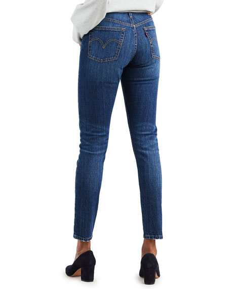 Levi's Premium 501 Mid-Rise Ankle Skinny Jeans